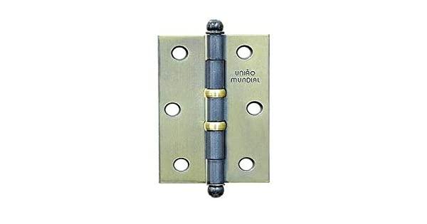 Dobradiça com Anel em Aço Oxidado 3×2.1/2″