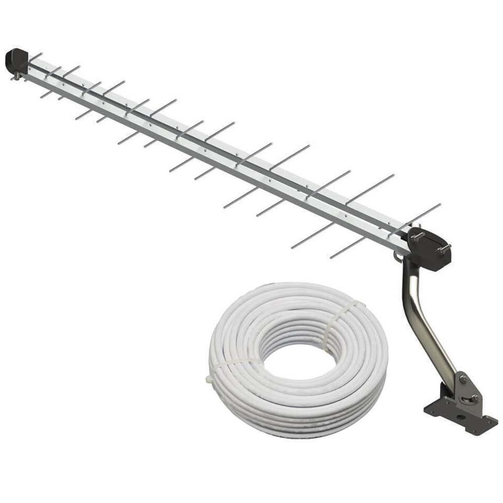 Antena Digital para TV SL-2800K UHF Prata