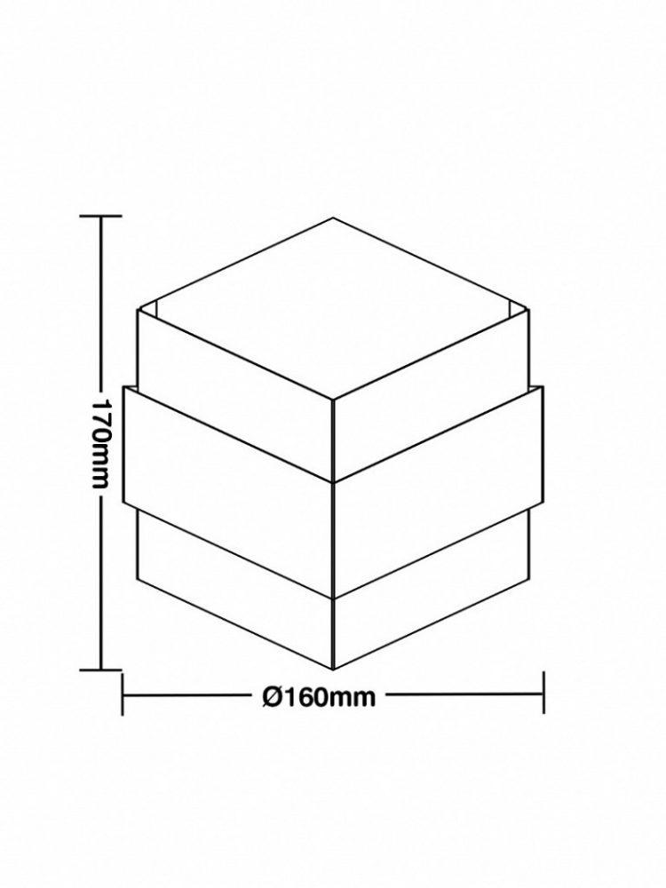 Arandela Taschibra Armor 1xG9 Branca