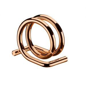 Argola para Guardanapo Rose Gold Cj. com 6 unidades