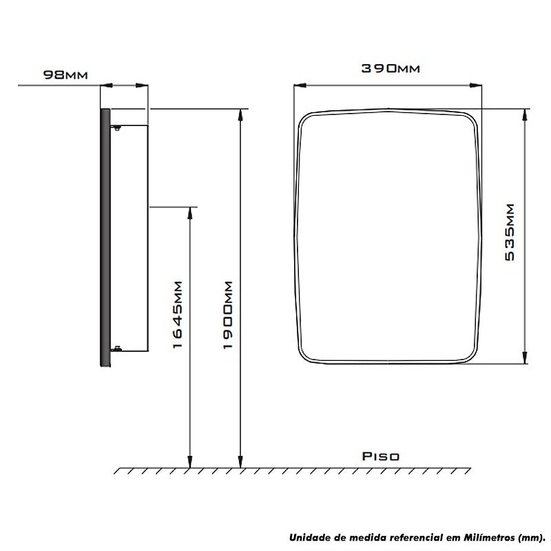 Armário Cris-Metal Cris Inox 39×53,5