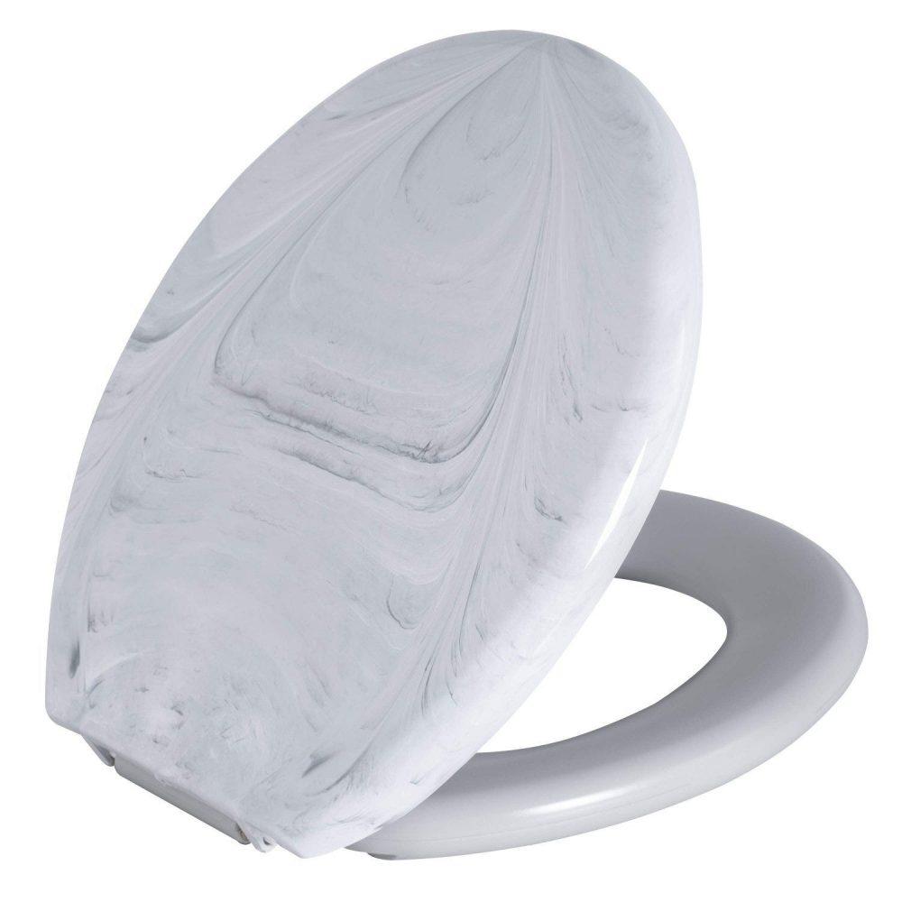 Assento Astra Almofadado Convencional Branco Marmorizado