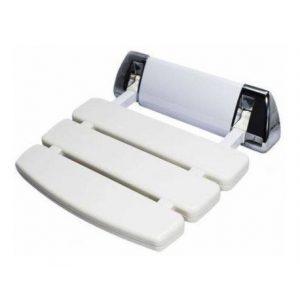 Assento Astra Retrátil 130kg Branco/Cromado