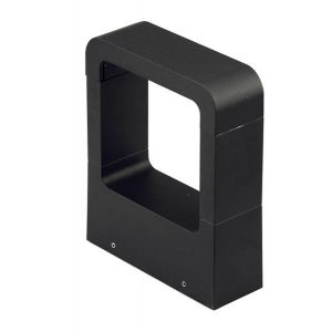 Balizador Germany Modern 200mm Led 10W 3000K Preto Fosco