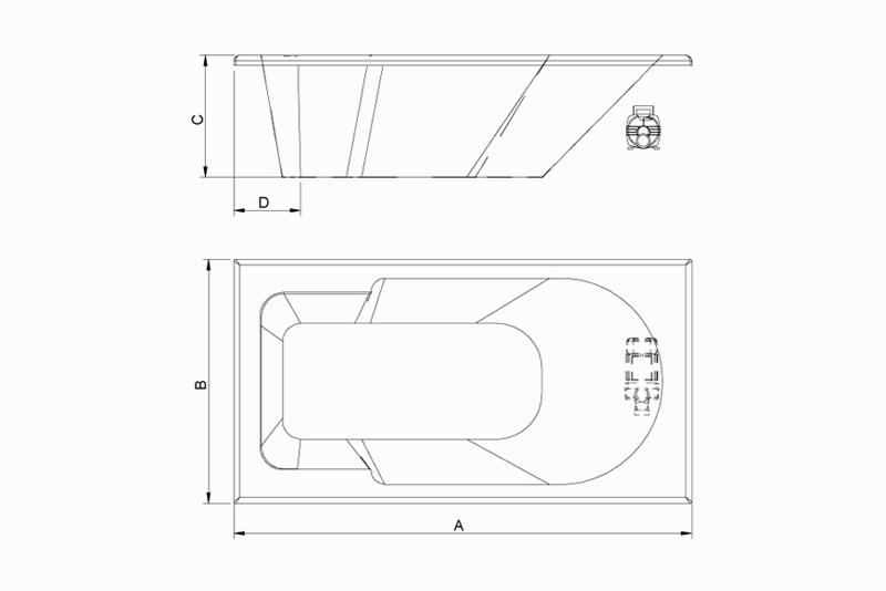 Banheira Profax Hidro Capri H01 170x80x43 Gran Luxo