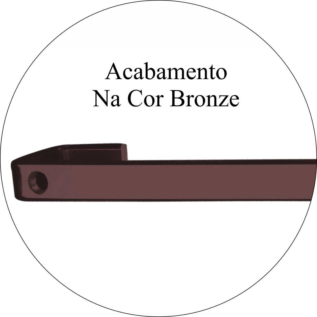 Barra Future 30cm Piatina com 6 Ganchos Bronze