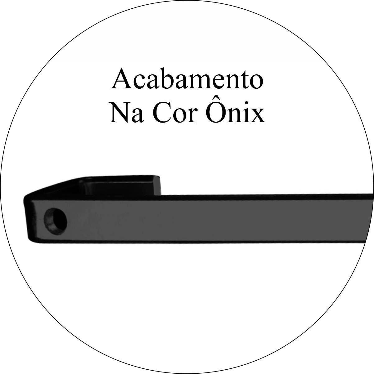 Barra Future 45cm Piatina com 6 Ganchos Ônix