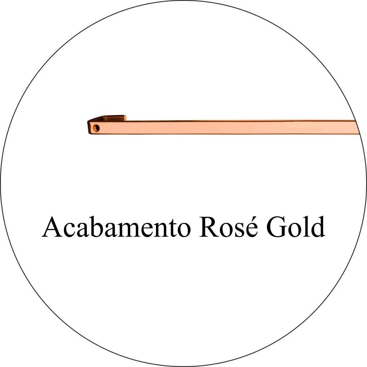 Barra Future 45cm Piatina com 6 Ganchos Rose Gold
