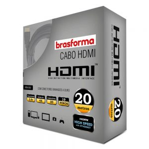 Cabo HDMI 2.0 4K 3D 1080P 20m