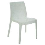 Cadeira Tramontina Alice Polida Marmorizada Pérola Branca