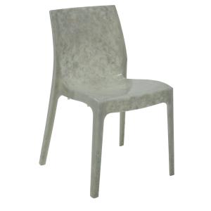 Cadeira Tramontina Alice Polida Marmorizada Pérola Esmeralda