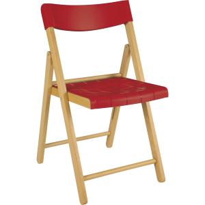 Cadeira Tramontina Potenza Nat/Vermelho