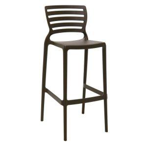 Cadeira Tramontina Sofia Alta Bar Marrom