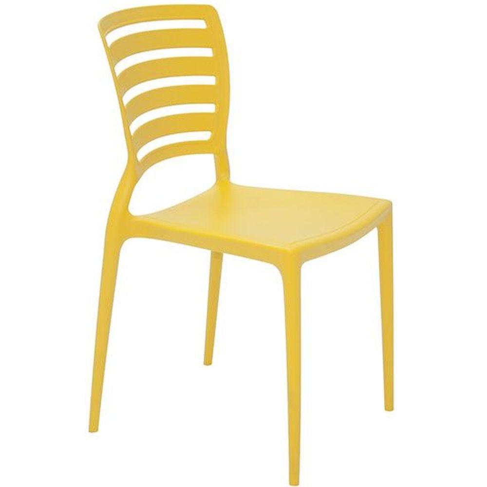 Cadeira Tramontina Sofia Horizontal Amarela
