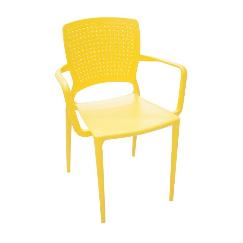 Cadeira Tramontina com Braço Safira Amarela –