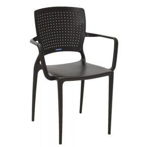 Cadeira Tramontina com Braço Safira Marrom –