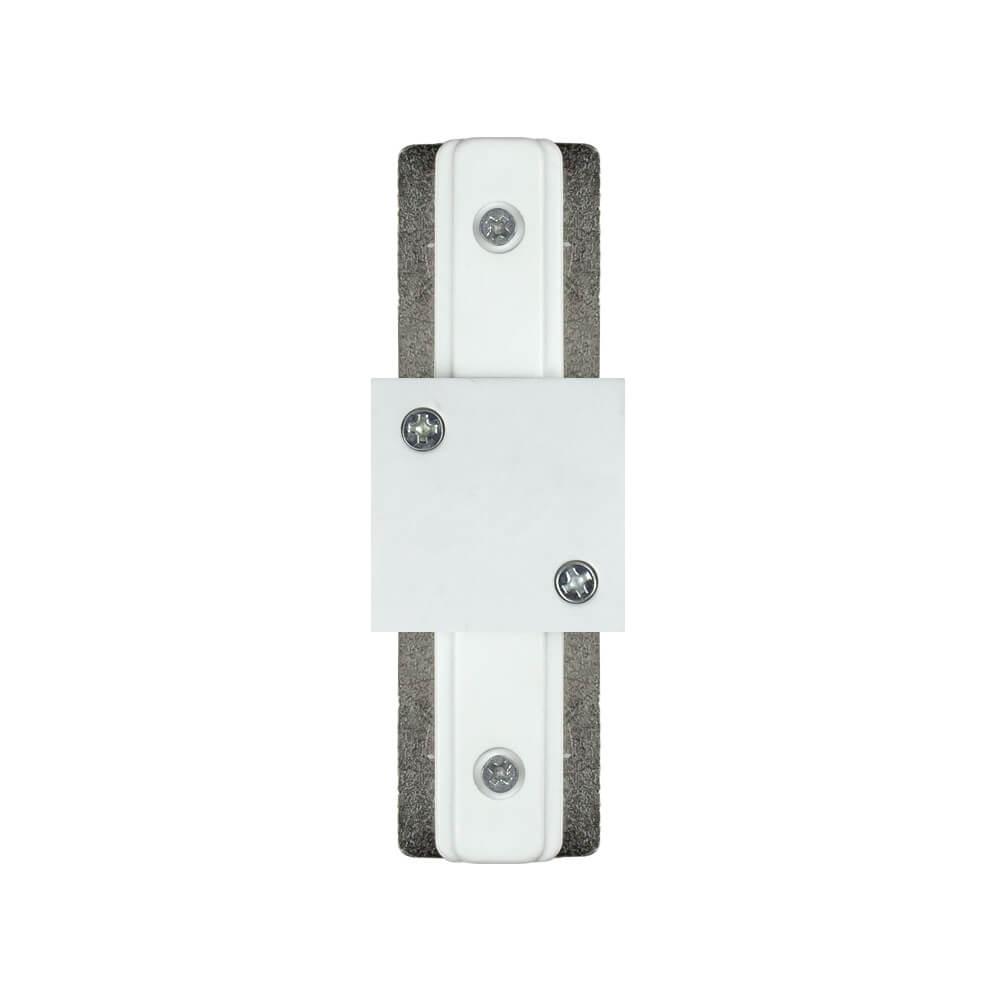 Conector de Metal Reto para Trilho Eletrificado Branco