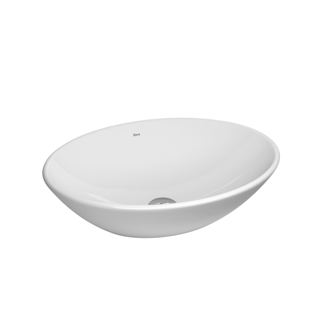 Cuba Deca Apoio Oval 50x37cm Branco Gelo (L.68.17)