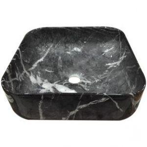 Cuba Japi Apoio 38X3 Sottile Quadrada Pedra Preta
