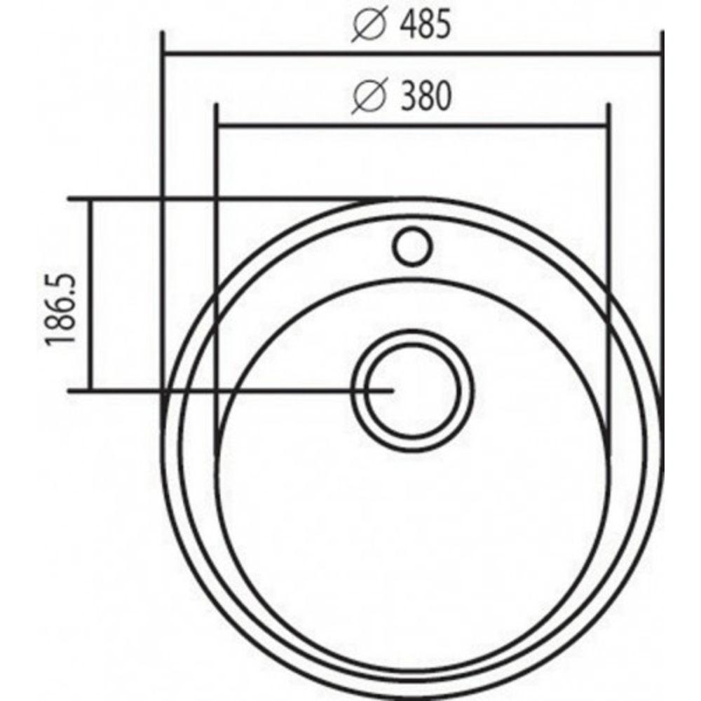 Cuba Tramontina Redonda Aço Inox com Válvula 38×17