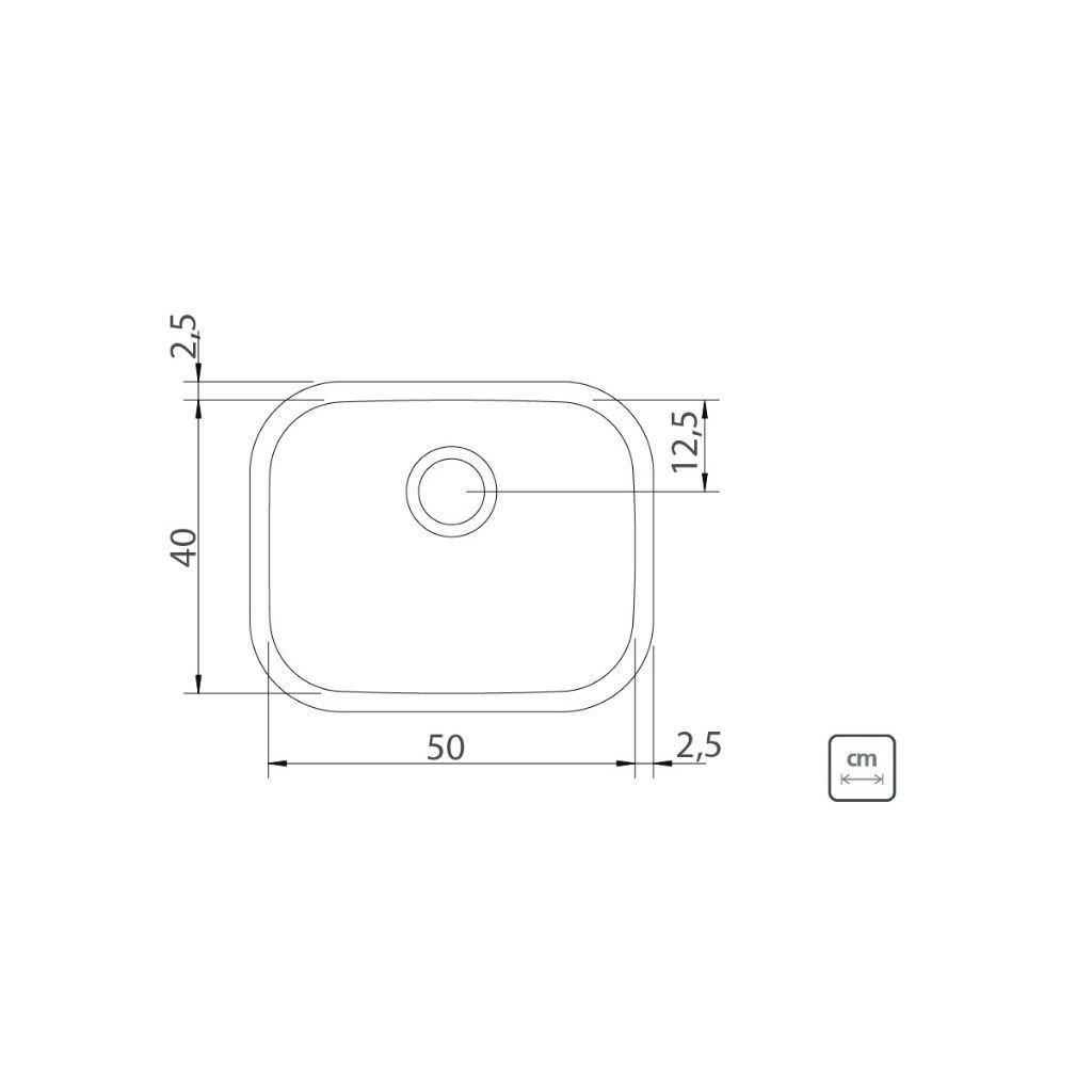 Cuba Tramontina Retangular Maxi Aço Inox 50x40x20 Pol