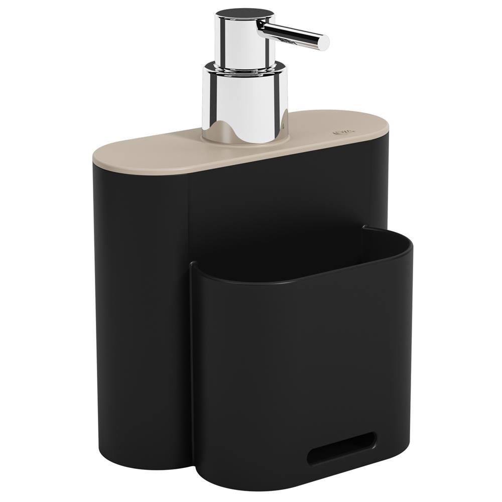 Dispenser Coza Flat 500ml Preto