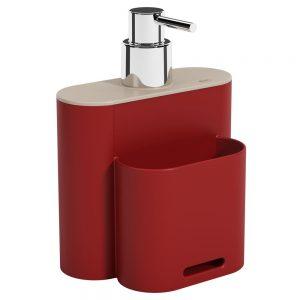 Dispenser Coza Flat 500ml Vermelho Bold