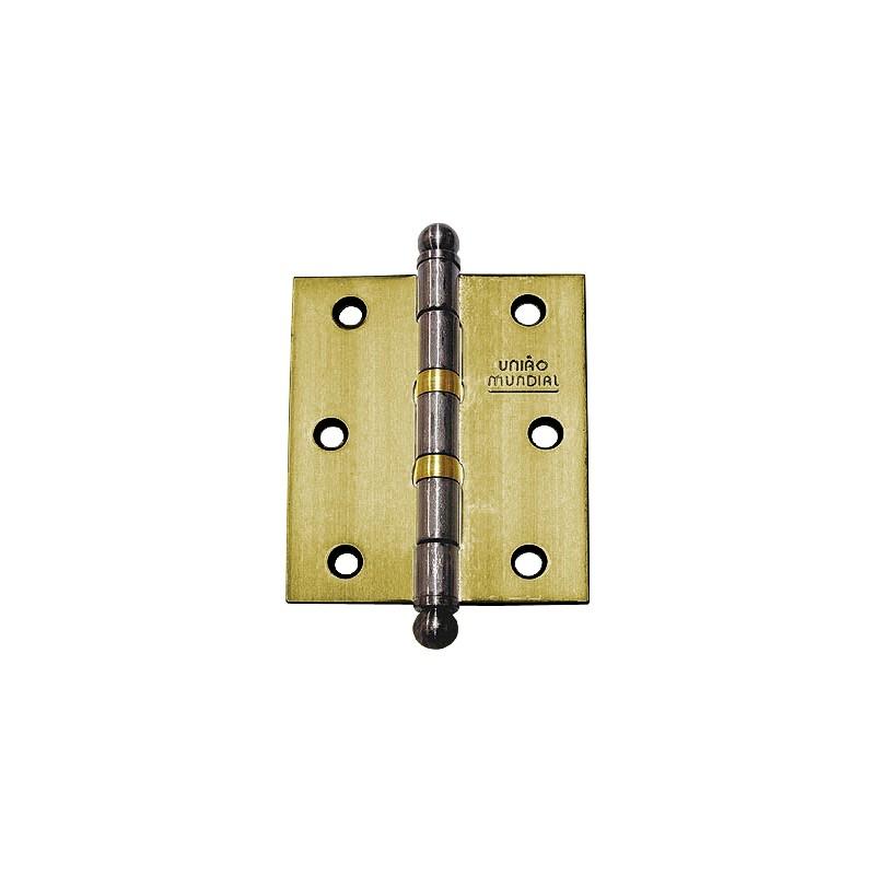 Dobradiça com Anel em Aço Oxidado 3.1/2×3″