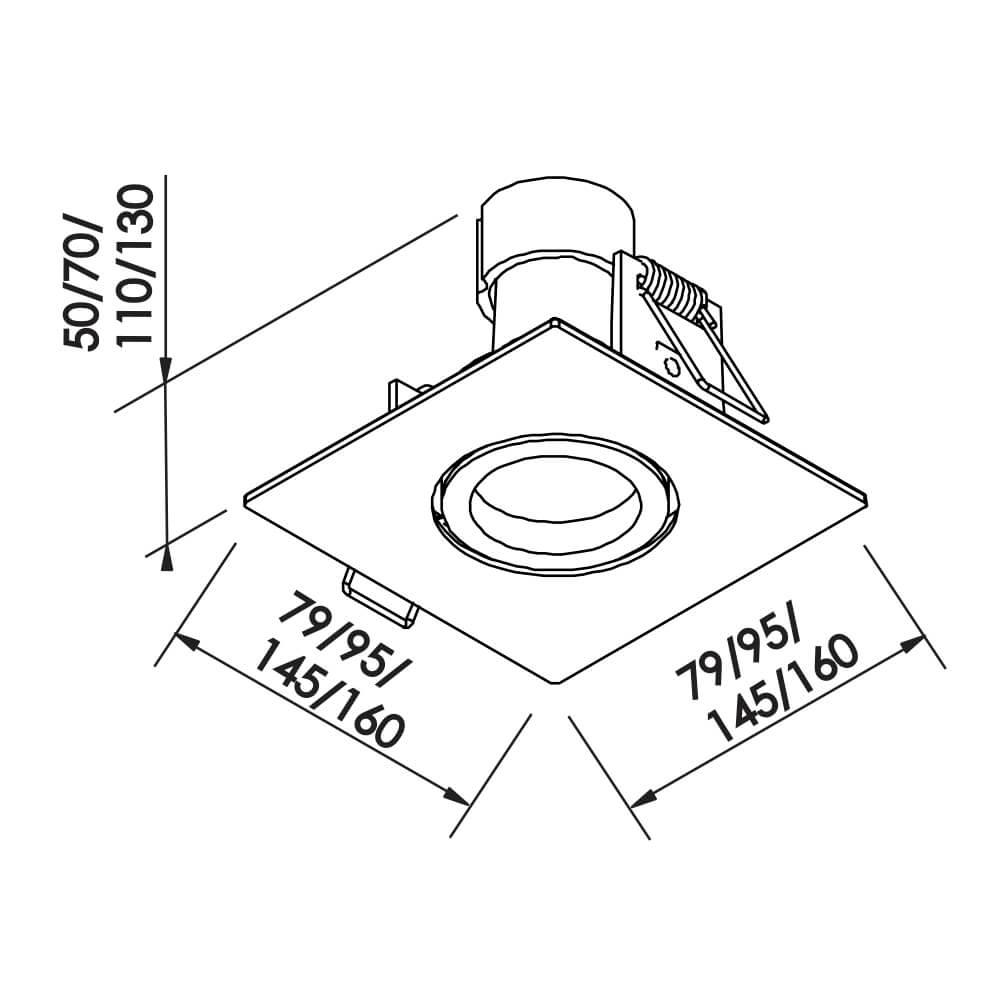 Embutido Lisse II PAR20 E27 – Branco – 120x120x110mm