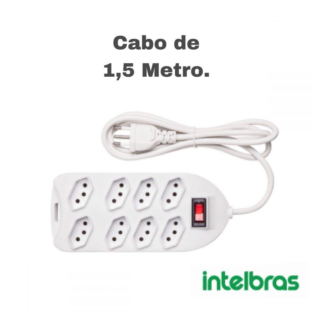 Filtro de Linha Intelbras 8 Tomadas EPE1008+
