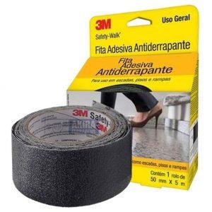 Fita Antiderrapante Safety Walk 3M Preto 50mm x 5m