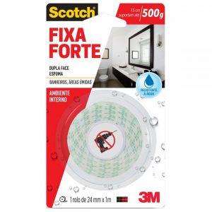 Fita Fixa Forte 3M Banheiro 24mm x 1,0m