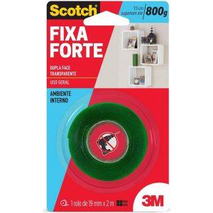 Fita Fixa Forte 3M Dupla Face 19mm x 2m