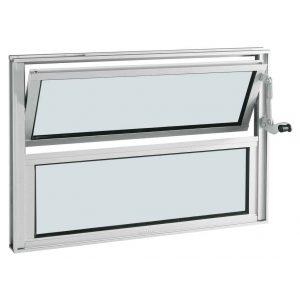 Janela Basculante Alumifort Branco 1Folha 40x60x3,3
