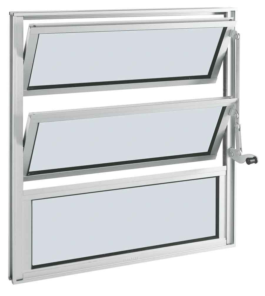 Janela Basculante Alumifort Branco 2Folha 60x60x3,3