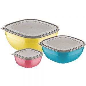 Jogo Bowls 3Pçs Mix Color