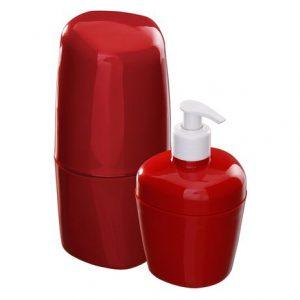 Kit Astra para Banheiro com 2Pcs Vermelho