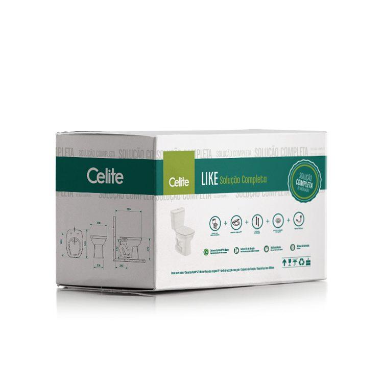 Kit Completo Celite Vaso Acoplado Like Branco