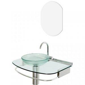 Lavabo Cris-Metal Cris-Glass Quartzo 70×45,5