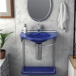 Lavabo Cris-Metal Cris Mold Azul 50x46x62,5