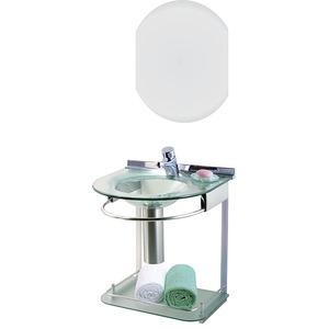 Lavabo Cris-Metal Cris Mold Incolor 50x46x62,5 com Espelho