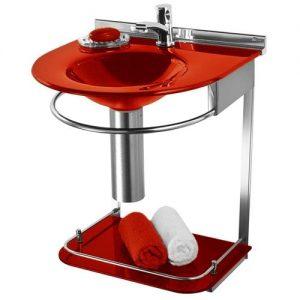 Lavabo Cris-Metal Cris Mold Vermelho 50x46x62,5