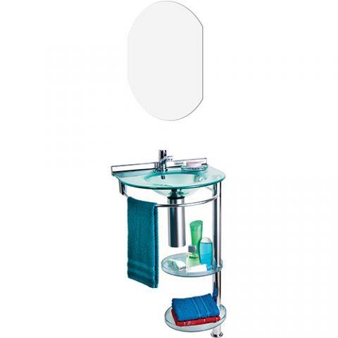 Lavabo Cris-Metal Turmalina com Espelho
