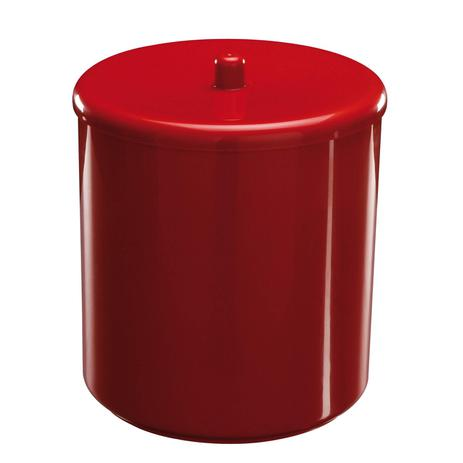 Lixeira Astra com Tampa 20x25cm Vermelho