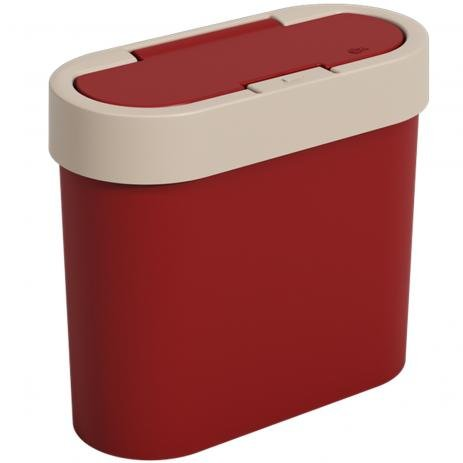 Lixeira Coza Automática 2,8L Flat Vermelho Bold