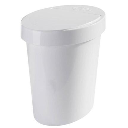 Lixeira Coza Oval Retro 5L Branco