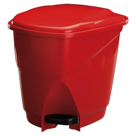 Lixeira de Pedal Astra 16L Vermelho/Preto