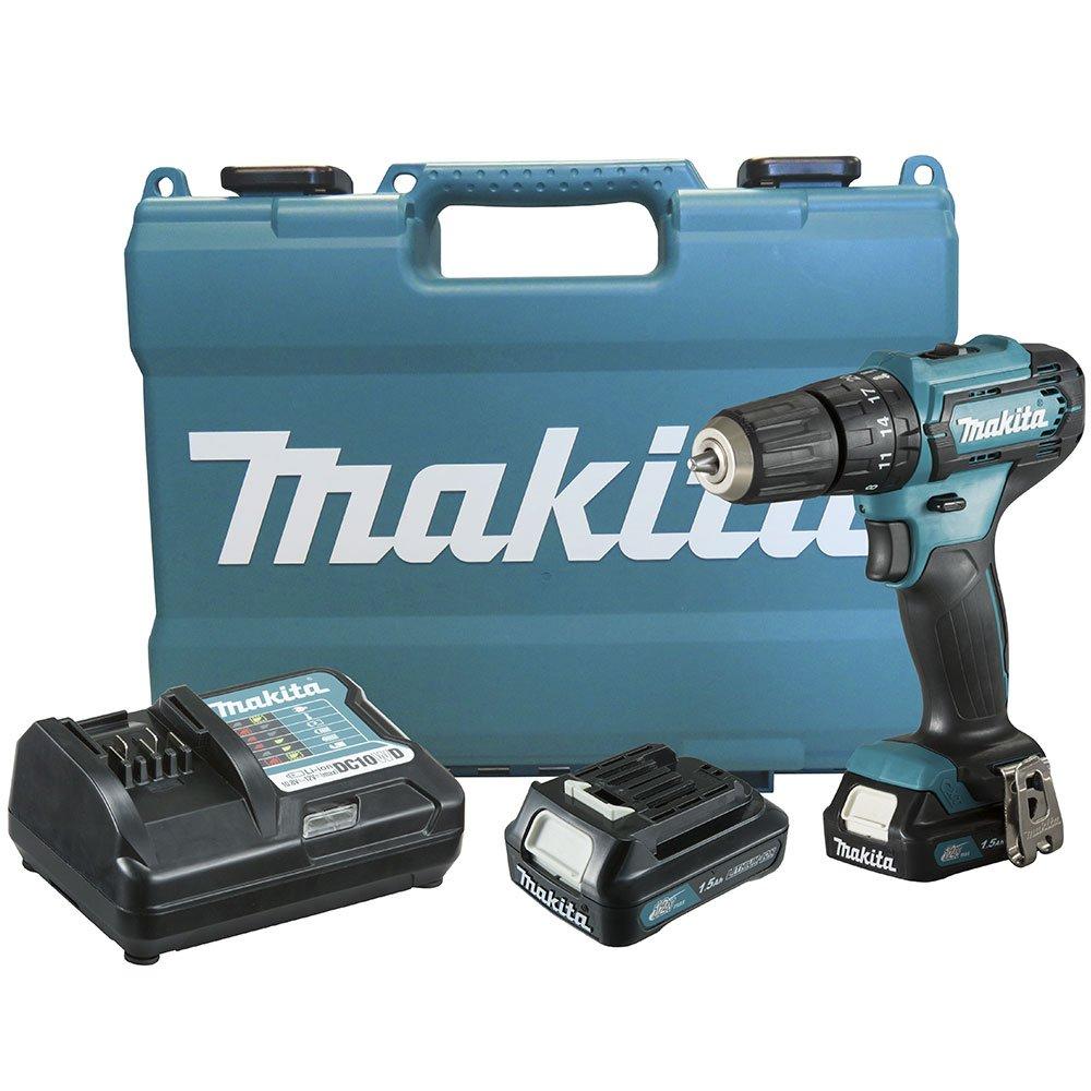 Parafusadeira/Furadeira Impacto à Bateria 12V Makita 10mm com Maleta