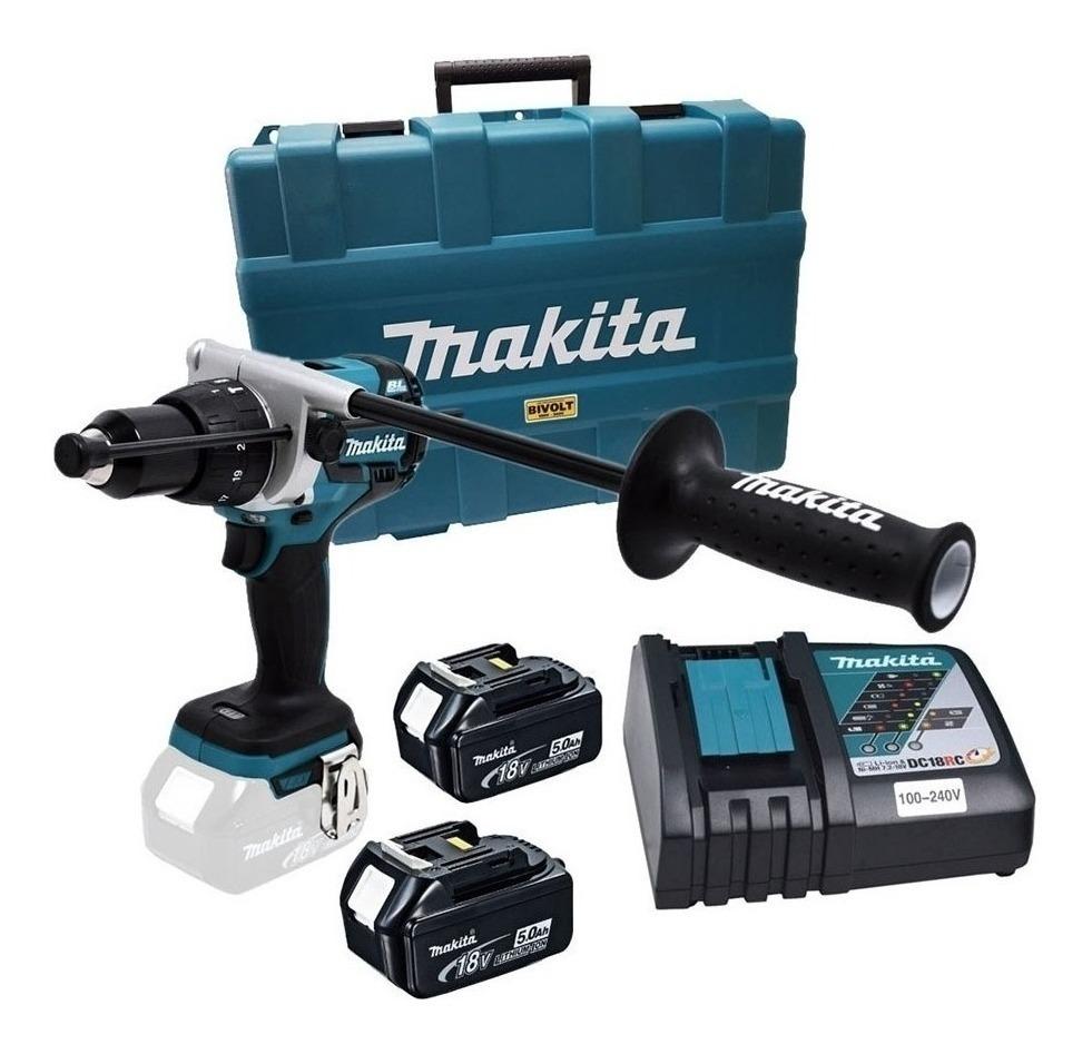Parafusadeira/Furadeira Impacto à Bateria 18V Makita com Maleta