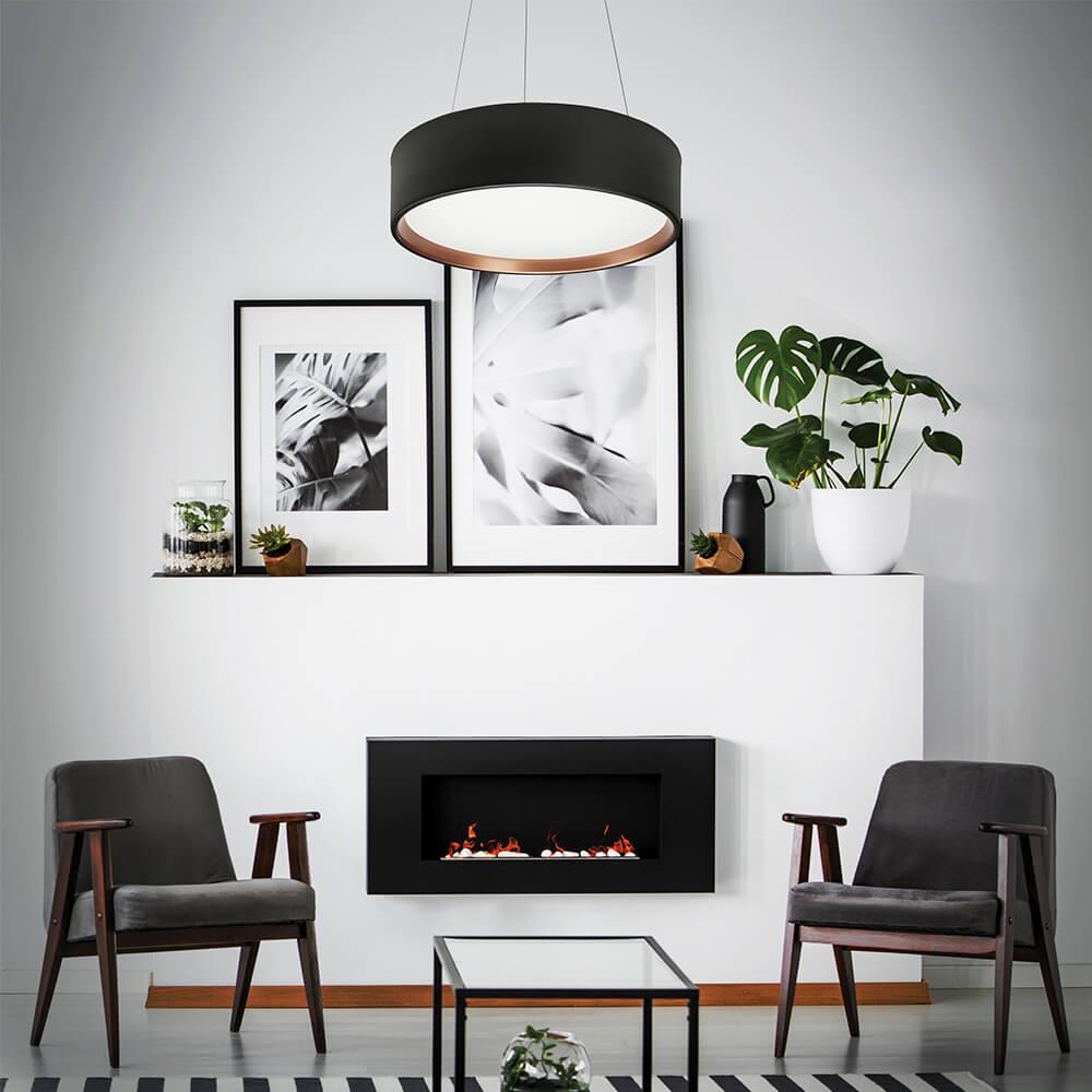 Pendente Circle CFL E27 – Branco – 530x530x165mm